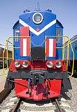 Old diesel locomotive 4 Stock Photos