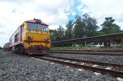 Old diesel locomotive royalty free stock photo