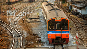 Old Diesel Locomotives and Trains in Bangkok Royalty Free Stock Photos