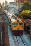 Old Diesel Locomotives and Trains in Bangkok, Thailand Stock Photo