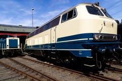 Old diesel lokomotive. Old diesel locomotive in the Siegen railway museum Stock Images