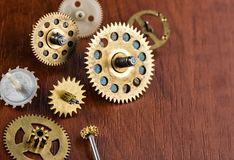 Old different gears Stock Photography
