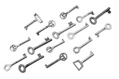 Old  different steel keys Royalty Free Stock Photo