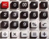 Old Digital Calculator Buttons Royalty Free Stock Image