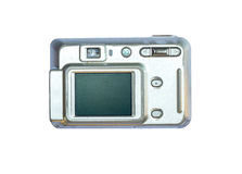 Old digital camera isolated white background Royalty Free Stock Photo