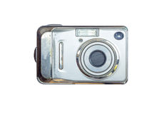 Old digital camera isolated white background Stock Image
