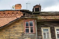 Old house in a provincial ghost town Royalty Free Stock Images