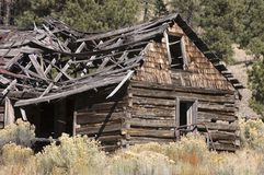 Old dilapidated barn. Old dilapidated wooden barn in the countryside of New Mexico Stock Image