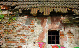 Old dilapidated brick house Stock Photos
