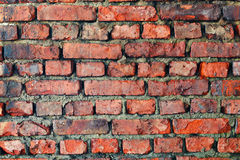 Old dilapidated brick wall - background Royalty Free Stock Photos