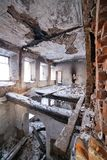 The old dilapidated building. Stock Photo