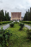Old dilapidated building of parliament of Abkhazia in Sukhumi Royalty Free Stock Photo