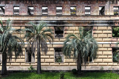 Old dilapidated building of parliament of Abkhazia in Sukhumi Stock Photography