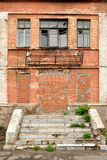 The old dilapidated building of red bricks Royalty Free Stock Photography