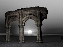 Old Dilapidated Colosseum. A 3D rendering of an ancient dilapidated colosseum Stock Photo