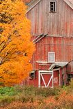 Old Dilapidated Country Barn During Autumn. Stock Photography