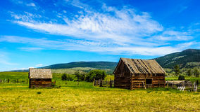 Old dilapidated farm buildings in the Lower Nicola Valley Stock Image