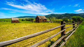Old dilapidated farm buildings in the Lower Nicola Valley near Merritt British Columbia Royalty Free Stock Photos