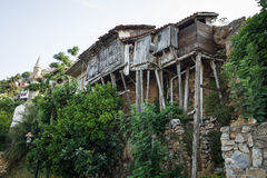 The old and dilapidated houses Royalty Free Stock Image
