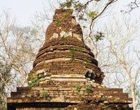 Old dilapidated pagoda. At historical park, Sukhothai, Thailand Stock Photo