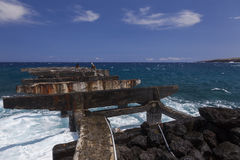 Old dilapidated pier Stock Photography