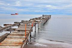 Old dilapidated pier Stock Photo