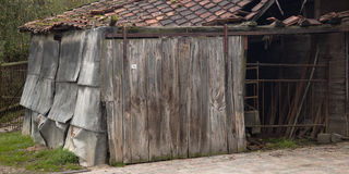 Old dilapidated and ramshackle barn. Royalty Free Stock Image