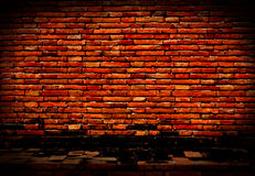 Old and dilapidated red brick wall Stock Photography