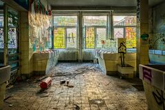 Old dilapidated room Stock Image