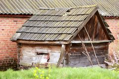 Old dilapidated shed/barn Stock Photos