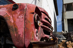 Old dilapidated truck. In the back yard Stock Photography