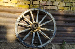 Old dilapidated wheel Stock Images