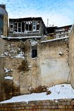 Old dilapidated windows in Baku's Old City, Azerbaijan Royalty Free Stock Images