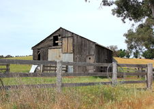 Old and dilapidated wooden. Barn in country Australia Stock Photos
