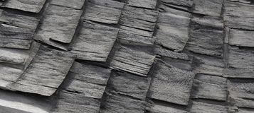 Old dilapidated wooden shingles Royalty Free Stock Images