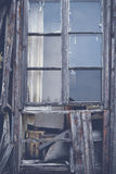Old dilapidated wooden windows Royalty Free Stock Photos