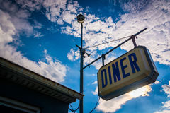 Old diner sign near Thomasville, Pennsylvania. Royalty Free Stock Photos