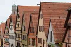 Old Dinkelsbuhl town, part of Romantic road, Bavaria stock photos