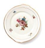 Old dinner plate. On a white bg Stock Photos