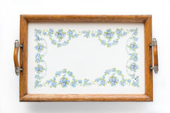 Old dinner tray - decorative kitchenware royalty free stock image