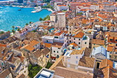 Old Diocletians palace in Split aerial view Stock Photos