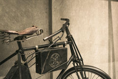 Old Dion Bouton motorcycle, designed by Georges Bouton and Charles Trepardoux. Stock Photography