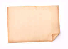 Old and dirt paper on white background Stock Image