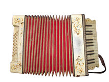 Old dirty accordion musical instrument Royalty Free Stock Image