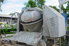 Old dirty automatic concrete mixer Stock Photography