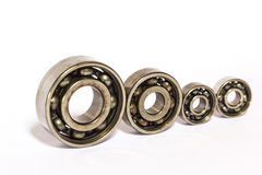 Old and dirty ball bearing. Isolated on white background Stock Photo