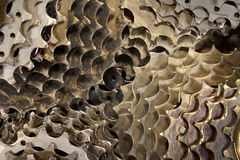 Old dirty bicycle sprocket wheels as background.  royalty free stock image