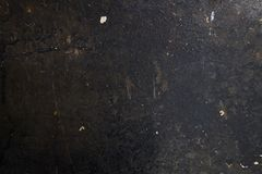 Old dirty black wall texture with soot and spots. Vintage background stock images