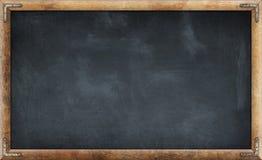 Free Old Dirty Blank Blackboard In Wooden Frame Stock Image - 217349741