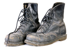 Old dirty boots Royalty Free Stock Images